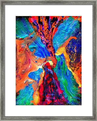 Abstract - Evolution Series 1004 Framed Print by Dina Sierra