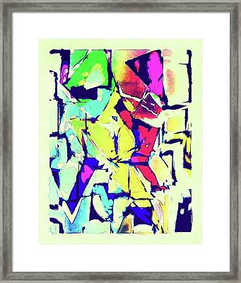 Abstract Explosion Framed Print by Susan Leggett