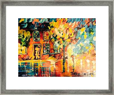 Framed Print featuring the painting Abstract Expressionism by Janelle Dey