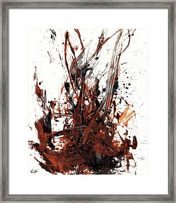 Abstract Expressionism Painting 50.072110 Framed Print by Kris Haas
