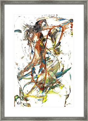 Framed Print featuring the painting Abstract Expressionism Painting Series 1039.050812 by Kris Haas