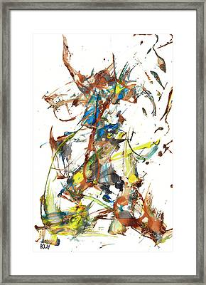 Framed Print featuring the painting Abstract Expressionism Painting Series 1040.050812 by Kris Haas
