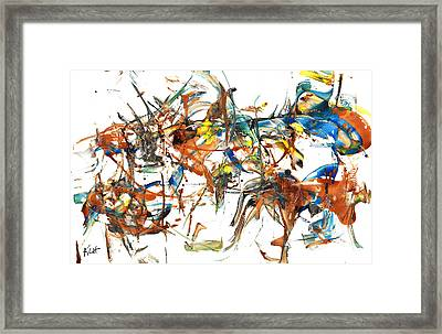 Framed Print featuring the painting Abstract Expressionism Painting Series 1041.050812 by Kris Haas