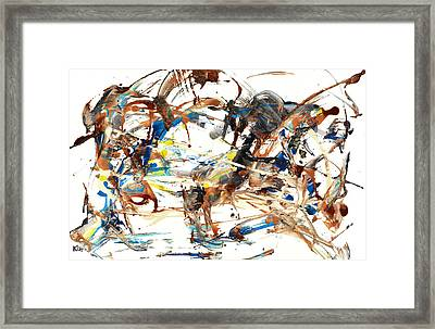 Framed Print featuring the painting Abstract Expressionism Painting Series 1042.050812 by Kris Haas