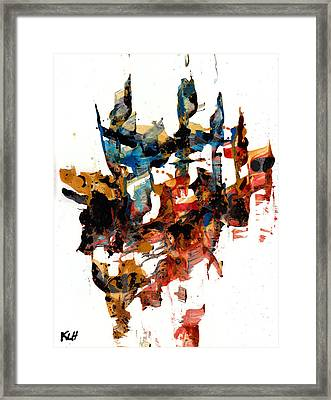 Abstract Expressionism Painting Series 750.102910 Framed Print by Kris Haas
