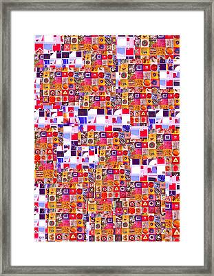 Abstract Expressionist Collage Framed Print by Richard Tuvey