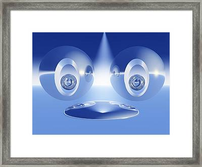 Abstract Face Stage Framed Print