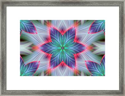 Abstract Fantasy Star Framed Print by Linda Phelps