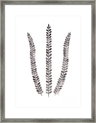 Abstract Fern Watercolor Art Print Painting Framed Print by Joanna Szmerdt
