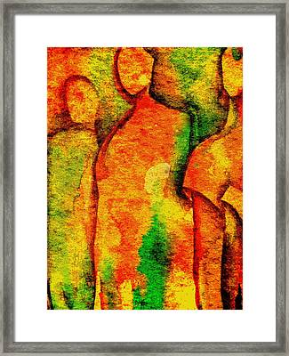 Abstract Figures Framed Print by Chris Boone