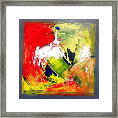 Abstract Fine Art Print - Gestural Abstraction Framed Print by Mario Zampedroni