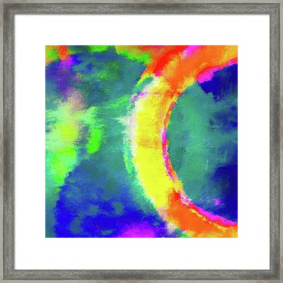 Abstract - Fire In The Sky Framed Print