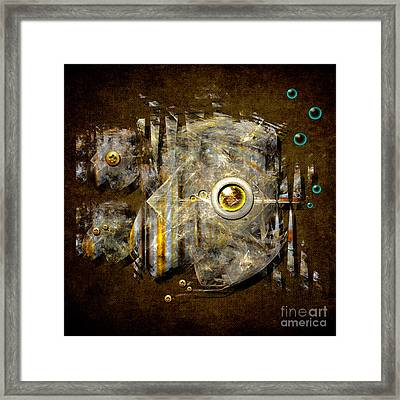 Abstract Fish Framed Print