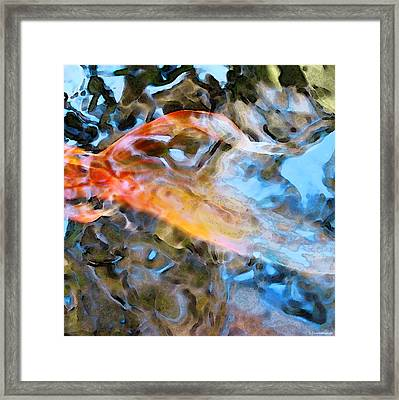 Abstract Fish Art - Fairy Tail Framed Print by Sharon Cummings