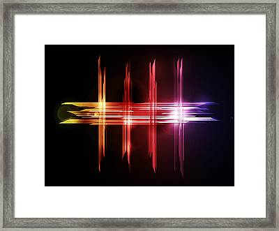 Abstract Five Framed Print by Michael Tompsett