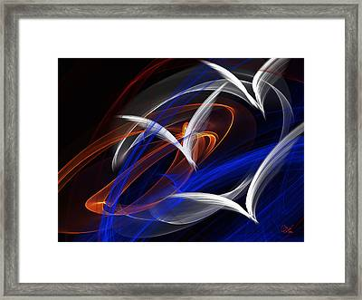 Abstract Flame Art 3 Birds Framed Print by Debora Nash