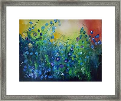 Abstract Flax           31 Framed Print