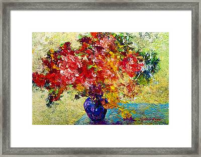 Abstract Floral 1 Framed Print by Marion Rose