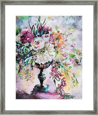 Abstract Floral Framed Print by Arleana Holtzmann