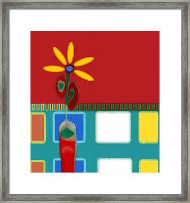 Abstract Floral Art 129 Framed Print