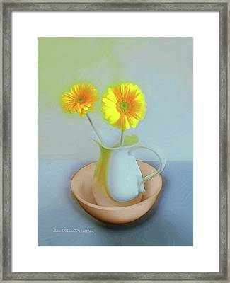 Abstract Floral Art 302 Framed Print