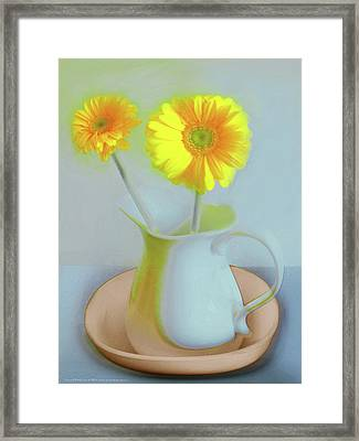 Abstract Floral Art 303 Framed Print