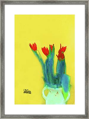 Abstract Floral Art 345 Framed Print