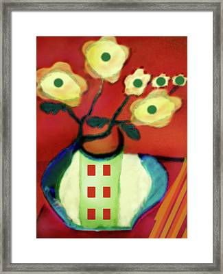 Abstract Floral Art 76 Framed Print
