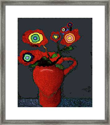 Abstract Floral Art 90 Framed Print