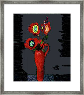 Abstract Floral Art 91 Framed Print