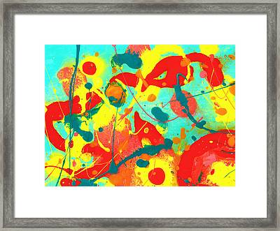 Abstract Floral Fantasy 2 Framed Print by Amy Vangsgard