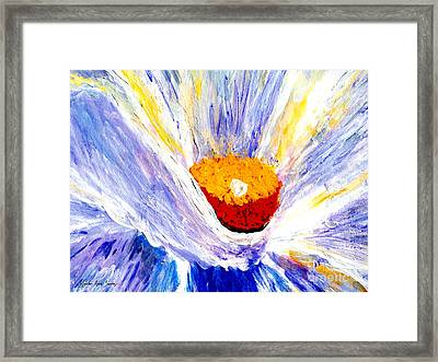 Abstract Floral Painting 001 Framed Print