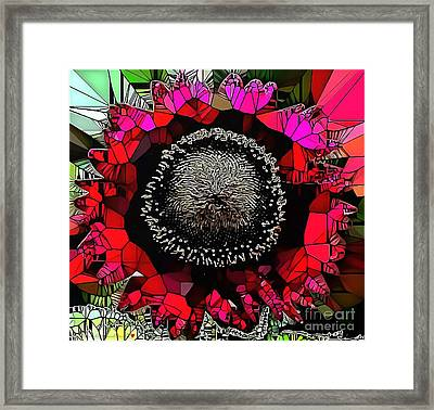 Abstract Floral Stained Glass Painting Framed Print by Catherine Lott