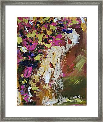 Abstract Floral Study Framed Print