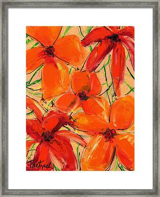 Abstract Floral Two Framed Print
