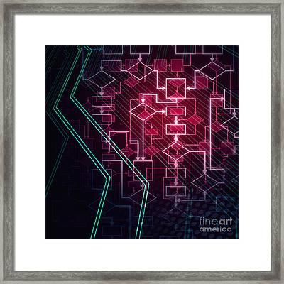 Abstract Flowchart Background Framed Print by Oleksiy Maksymenko