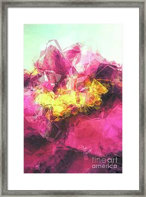 Abstract Flower Framed Print by Angela Doelling AD DESIGN Photo and PhotoArt