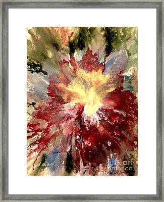 Framed Print featuring the painting Abstract Flower by Denise Tomasura