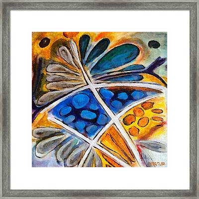 Framed Print featuring the painting Abstract Flower by Dragica  Micki Fortuna
