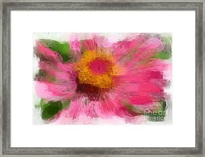 Abstract Flower Expressions Framed Print