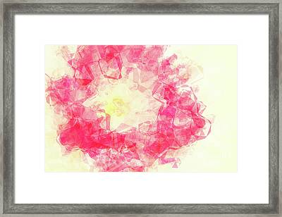 Abstract Flower Iv Framed Print by Angela Doelling AD DESIGN Photo and PhotoArt