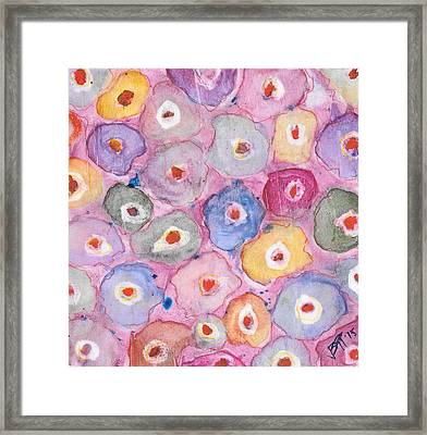 Abstract Flower Pattern Framed Print by Vanessa Baladad
