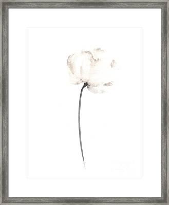 Abstract Flower Poster Framed Print