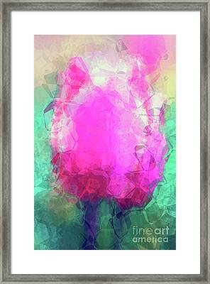 Abstract Flower Vi Framed Print by Angela Doelling AD DESIGN Photo and PhotoArt