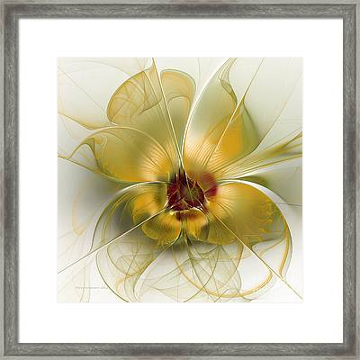 Abstract Flower With Silky Elegance Framed Print