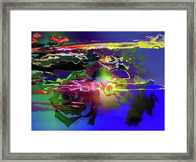 Abstract Flowers Of Light Series #11 Framed Print