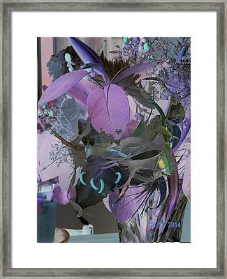 Abstract Flowers Of Light Series #12 Framed Print