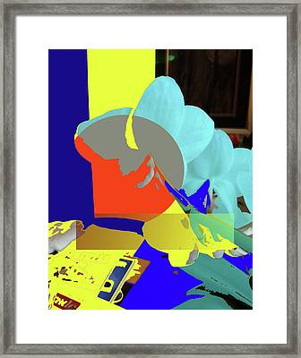 Abstract Flowers Of Light Series #14 Framed Print