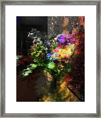 Abstract Flowers Of Light Series #17 Framed Print