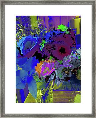 Abstract Flowers Of Light Series #18 Framed Print